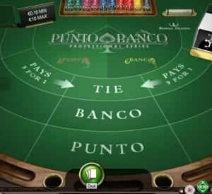 Gokken Online Punto Banco